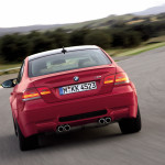 BMW-E92-M3-Coupe-Red-Rear