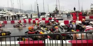 Video: Awesome Go-Kart Pileup