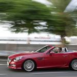 2012-Mercedes-SLK-Red-Left-Side