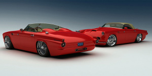 1955 Ford Thunderbird Meets 2009 Ford Mustang – By Bo Zolland