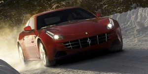Pictures: Ferrari Four (FF) Playing In The Snow