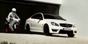 Mercedes-Benz C63 AMG Coupe Promo Video Featuring Ducati 848