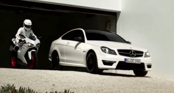 C63-AMG-Coupe-Ducati-848-Promotional-Video