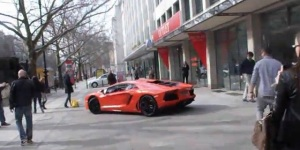 Video: Lamborghini Aventador LP700-4 On A Street In Berlin