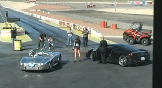 Shelby-Cobra-vs-Ferrari-458-Italia